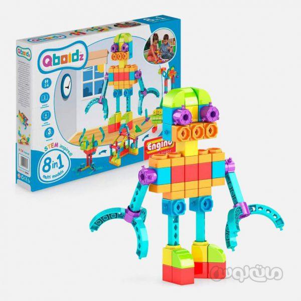 ست 8 در 1 ربات الین سری کیوبویدز انجینو ساختنی