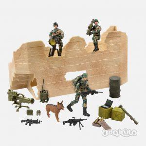 فیگور سربازها و سنگر عملیاتی سری ورلد پیس کیپرز 1:18 ام سی تویز