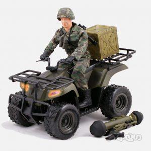 فیگور موتور ATV با سرباز سری ورلد پیس کیپرز 1:6 ام سی تویز