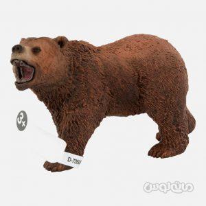 فیگور خرس گریزلی سری حیات وحش جنگل اشلایش