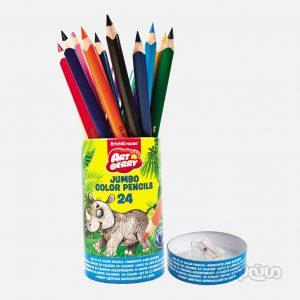 مداد رنگی 24 رنگ جامبو لوله ای آرت بری