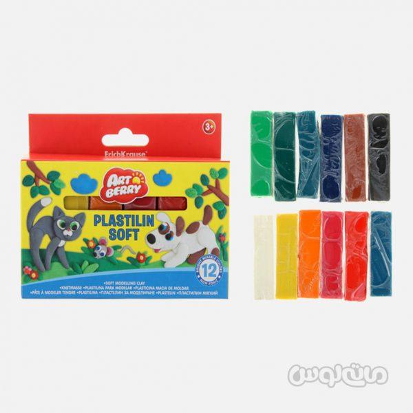 خمیر بازی نرم 12 رنگ حیوانات خانگی آرت بری