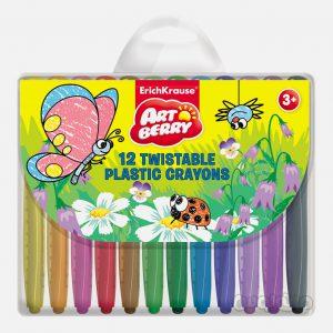 مداد شمعی 12 رنگ ماتیکی آرت بری