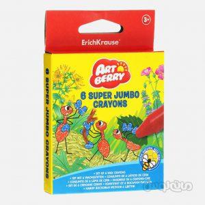 مداد شمعی 6 رنگ سوپر جامبو آرت بری