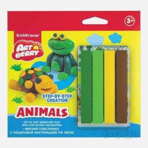 خمیر بازی نرم 4 رنگ حیوانات آرت بری
