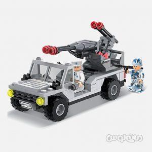 ماشین ارتشی آسائولت 173 قطعه ساختنی سیپو