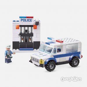 ماشین پلیس 188 قطعه ساختنی سیپو