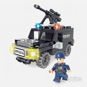 ماشین ضد هوایی پلیس 59 قطعه ساختنی سیپو