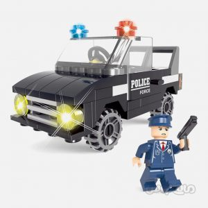 ماشین گشت پلیس 58 قطعه ساختنی سیپو