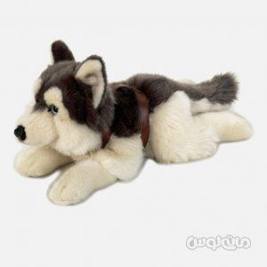 عروسک سگ هاسکی خوابیده 40 سانتی سری سگ ها للی