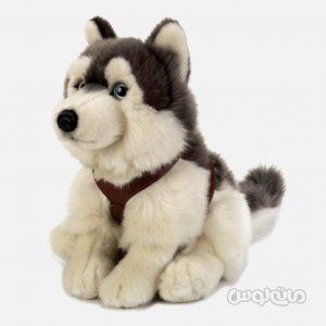 عروسک سگ هاسکی نشسته 25 سانتی سری سگ ها للی