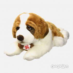 عروسک سگ سن برنارد خوابیده 40 سانتی سری سگ ها للی