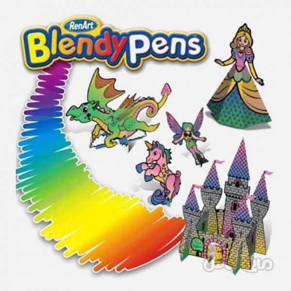 قلم 6 تایی با 30 تناژ رنگی اژدها سری بلندی پن رن آرت