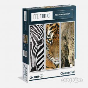 پازل 3 در 500 قطعه حیوانات کلمنتونی