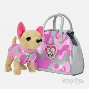 عروسک سگ همراه با کیف بزرگ سری چی چی لاو سیمبا