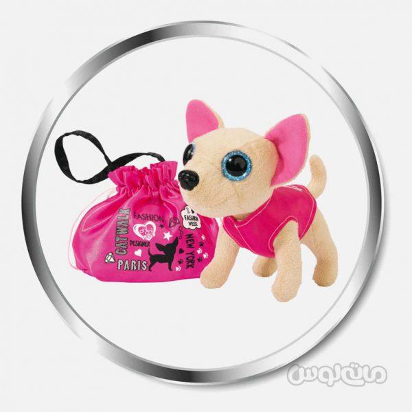 عروسک سگ همراه با ساک سری چی چی لاو سیمبا