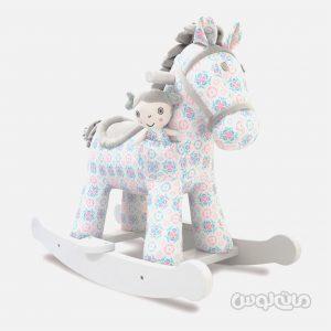 راکینگ هورس رزی همراه با عروسک مائی لیتل برد تلد می