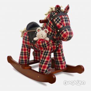 راکینگ هورس اسب قرمز همراه با عروسک وینستون لیتل برد تلد می