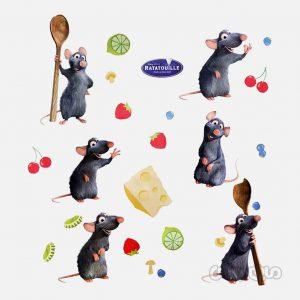 وال استیکر موش سرآشپز دکوفان