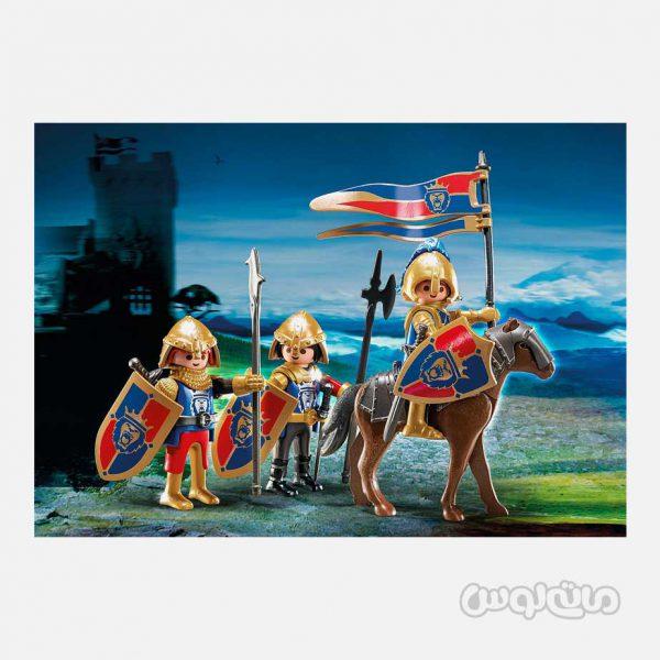 شوالیه ها با نشان شیر سلطنتی سری نایتس پلی موبیل