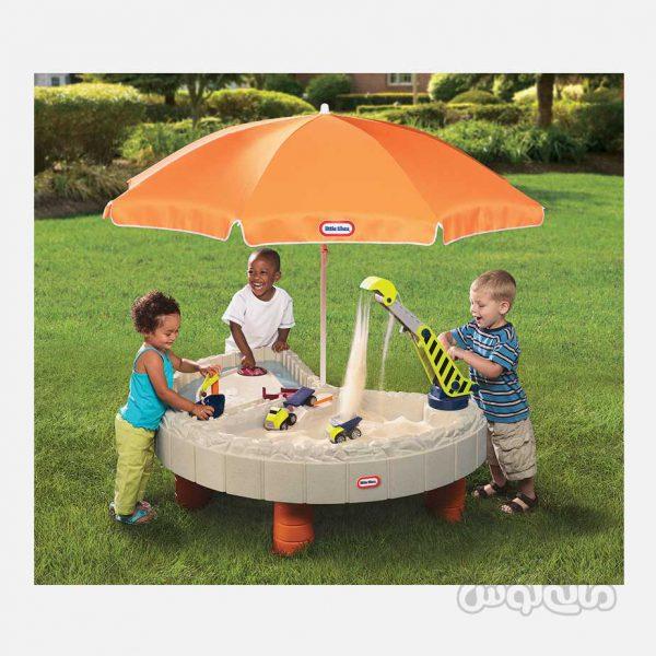 میز شن بازی همراه با بولدوزر و سایه بان لیتل تایکس