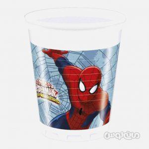 لیوان پلاستیکی اسپایدرمن جنگجو بسته 8 تایی (200 میلی لیتر) دکوراتا