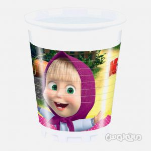 لیوان پلاستیکی ماشا و میشا بسته 8 تایی (200 میلی لیتر) دکوراتا