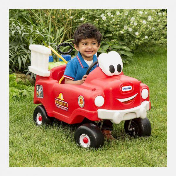 ماشین سوارشدنی قرمز باغبانی لیتل تایکس