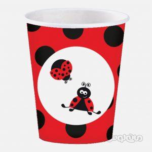 لیوان کاغذی کفشدوزک بسته 8 تایی رول آپ