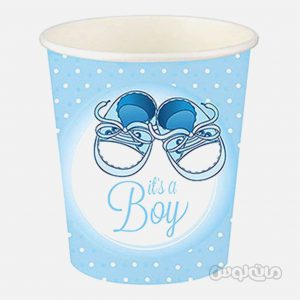 لیوان کاغذی طرح کفش پسرانه بسته 8 تایی رول آپ