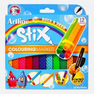 ماژيک 12 رنگ سری استيکس آرت لاين
