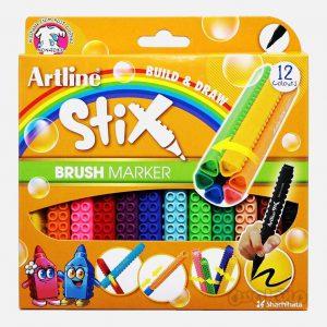 ماژيک 12 رنگ سری استيکس براش آرت لاين