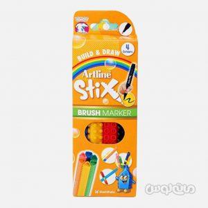ماژيک 4 رنگ سری استيکس براش آرت لاين