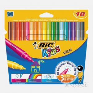 ماژيک 18 رنگ ويزا سری کيدز بيک