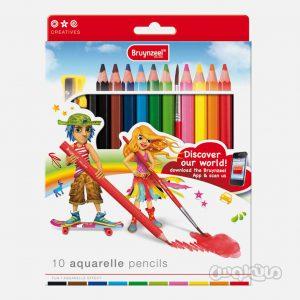 مداد 10 رنگ آبرنگي سری کريتيو برونزيل