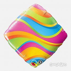 بادکنک 18 اينچ مربع رنگين کمونی کوالاتکس