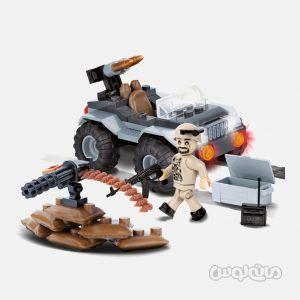 ماشين جنگي همراه با مسلسل سری اسمال آرمي کوبي ساختنی