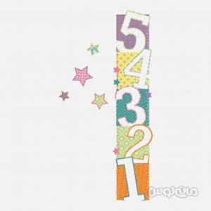 استيکر اعداد 1 تا 5 و ستاره ها 25 تکه آر ام کي