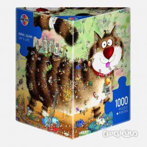 پازل 1000 قطعه زندگی گربه ای سری ترای انگولار هیه