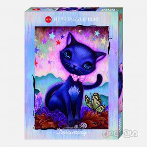 پازل 1000 قطعه گربه سیاه سری آرت لب هیه