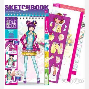 دفترچه طراحی لباس همراه با 120 تکه استیکر استايل مي آپ