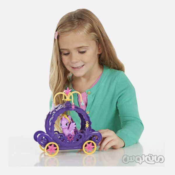 عروسک پرنسس توالايت همراه با کالسکه سری ليتل پوني هزبرو