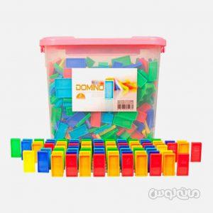 بازی فکری دومينو 1000 تکه با قطعات رنگی فکرانه