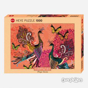 پازل 1000 قطعه طاووس و پرنده سری فاين آرت هيه