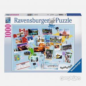 پازل 1000 قطعه نقشه و تصاوير جهان رونزبرگر