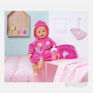 عروسک نوزاد با لگن و شیشه شیر بی بی بورن زاف