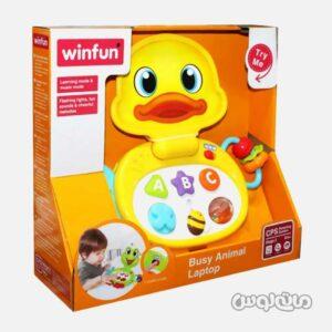 اسباب بازی لپ تاپ حيوانات وین فان