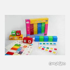 مکعب رنگی 7 سانتیمتری گلدونه