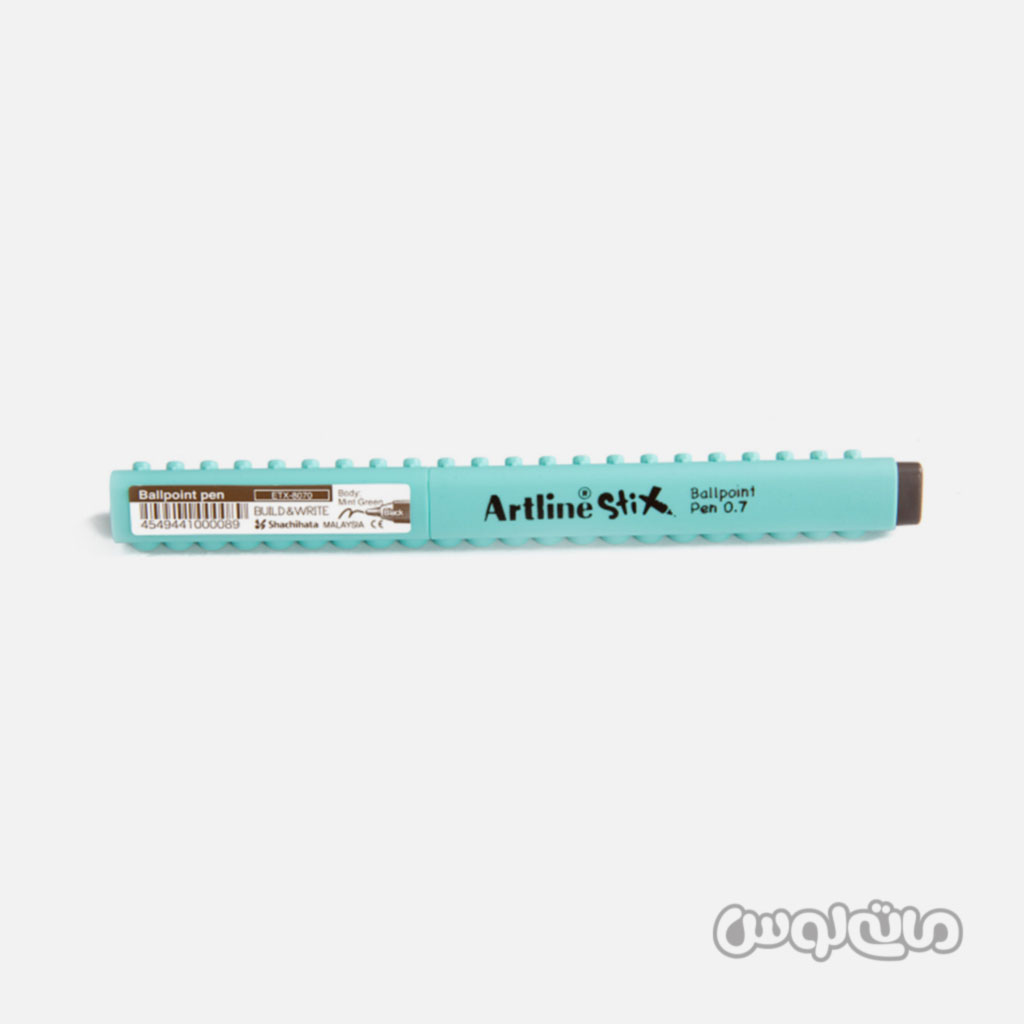 خودکار مشکی بدنه آبی سری استیکس آرت لاین