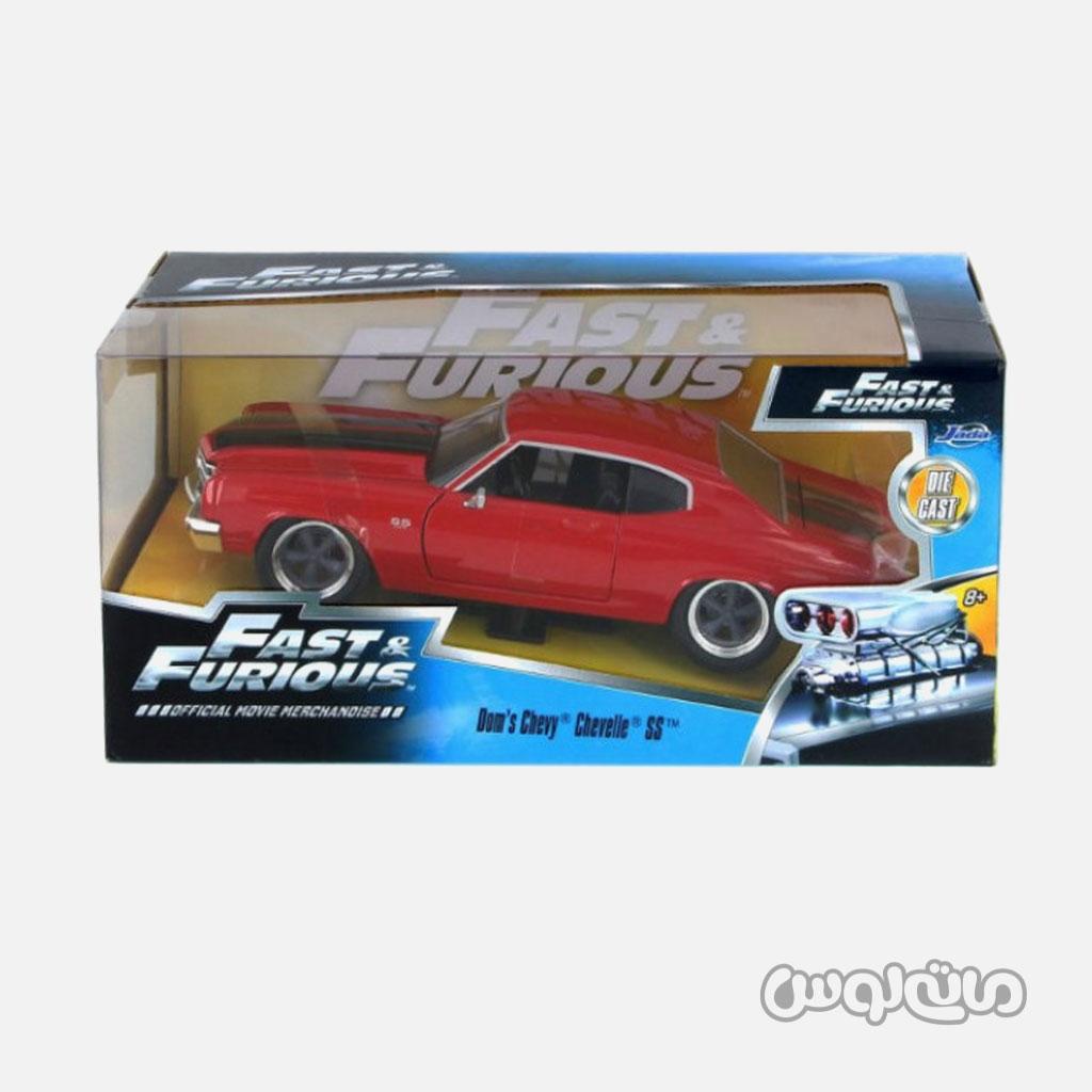 ماشین مدل شورلت SS قرمز سری فست اند فیورس جادا با جعبه